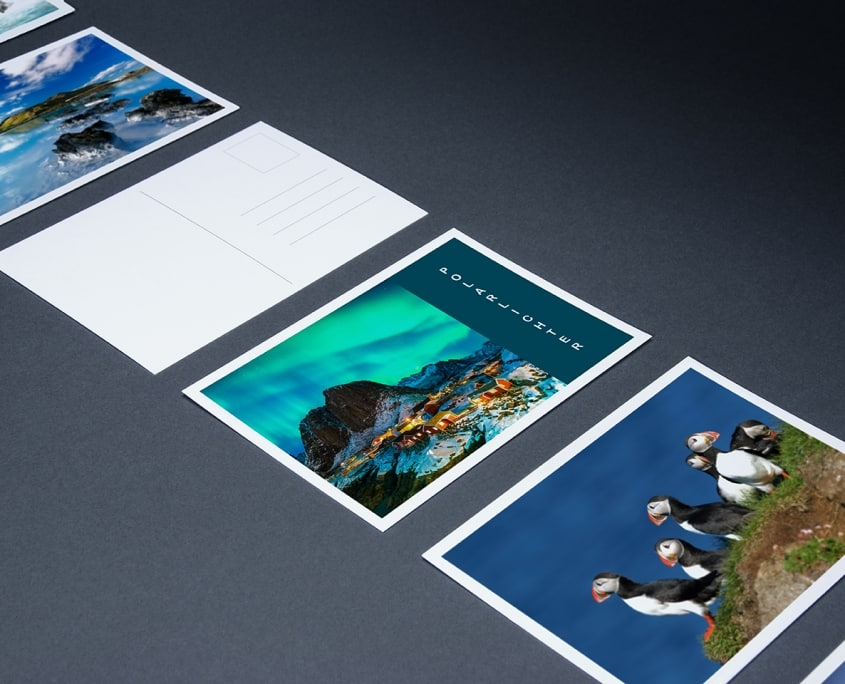 Postkarten mit 1-farbiger Rückseite