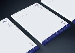 4-farbig bedruckte Briefbögen als Blattsammlung
