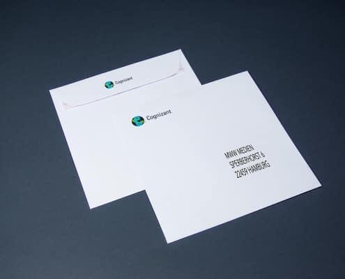 4-farbig digital bedruckte Briefumschläge