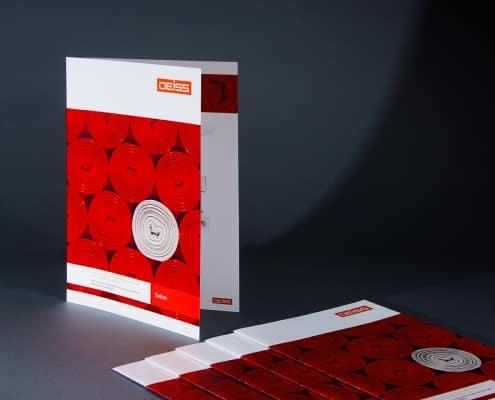 4-seitiger Folder mit 1-Bruch Falz
