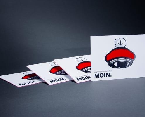 Postkarte mit Metapapier Farbkern