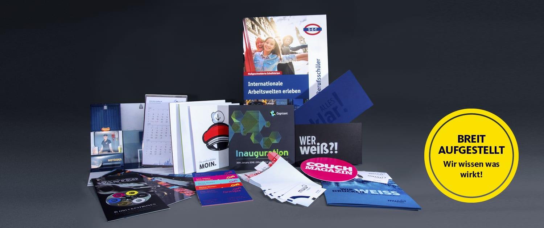 Produktübersicht Digital- und Offsetdruckerei